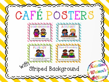 Free CAFE Reading Strategies Headers- Stripes Version
