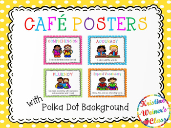 Free CAFE Reading Strategies Headers - Dots Version