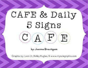 Free CAFE/Daily 5 Signs