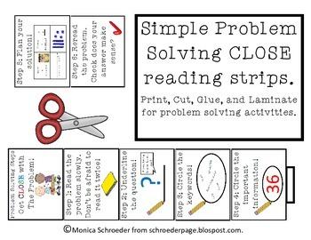 Free CLOSE Problem Solving Bookmarks