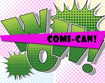 Free COMI-CAN! Green Comic Book  Alphabet -  300 DPI - PDF