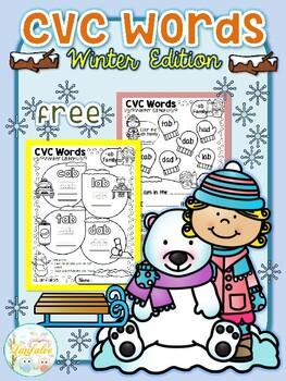 Free CVC Word WInter Edition