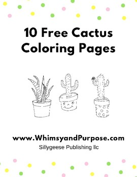 Free Cactus Coloring Pages