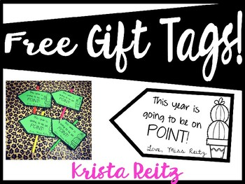 Free Cactus Gift Tags