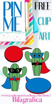 Free Cactus Superhero Clip Art