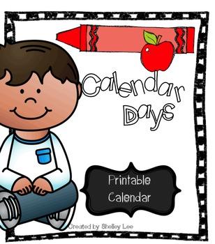 Free Calendar Days Printable Calendar