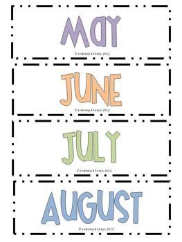 Free Calendar Month Set