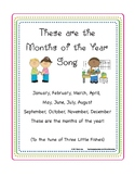 Free Calendar Song Print Out (Months of the Year)