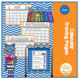 Free Calendar Tracing Pages