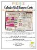 Free Editable Calendar Wall Cards