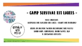 Free Camp Survival Kit Labels - A Gift for Teaching Peers/