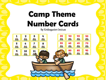 Free Camp Theme Number Cards