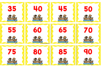 Free Camping Number Cards