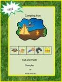 Free Camping Fun Sampler Preschool, Kindergarten, Autism