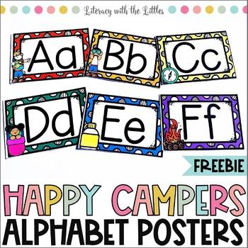 Free Camping Themed Alphabet Decor