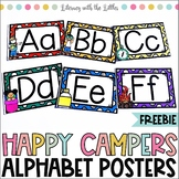 Free Camping Themed Alphabet Decor