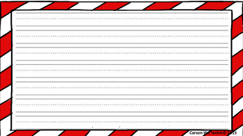 Free Candy Cane Handwriting Paper