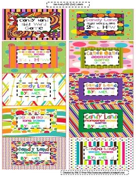 Free Candy Land Organization Labels