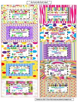Free Candy Land Organization Labels (#2)