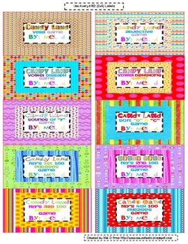 Free Candy Land Organization Labels (#3)