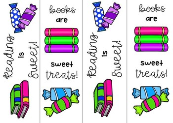 Free Candy Themed Bookmarks