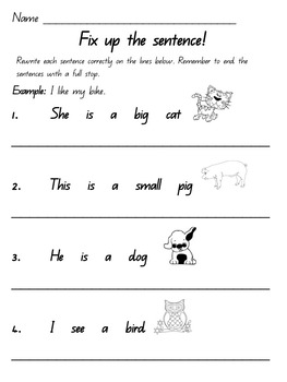 Free Capital Letters and Full Stops (Queensland Font)- Prep and Grade 1