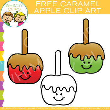 Free Caramel Apple Clip Art