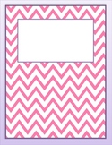 Free Carnation and Violet Chevron Binder Cover