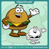 Royalty Free Cartoon Cheeseburger Clipart Character