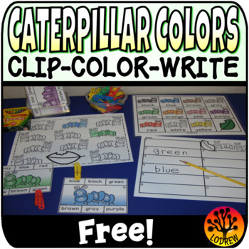 Bug Centers Free Clip Cards Caterpillar Centers Spring Activities