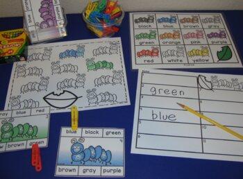 Bug Centers Free Clip Cards Caterpillar Centers Spring Activities