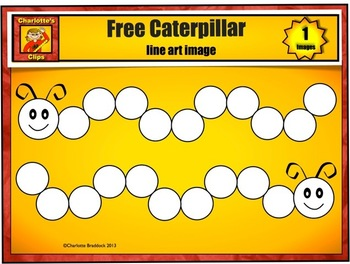 Free Caterpillar line art from Charlotte's Clips