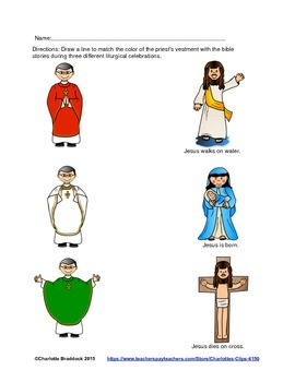 Free Catholic Mass Color and Celebrations Printable from C