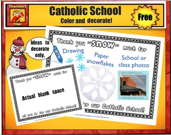 Free Catholic Schools Week Thank You Printable - Craft by Charlotte's Clips