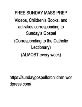 Free Catholic Sunday Gospel Mass Prep