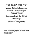 Free Catholic Sunday Gospel Mass Prep