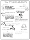 Free Catholic The 7 Sacraments Poster Coloring Page Worksheet
