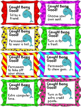 "Free ""Caught Being Good"" Behavior Coupons"