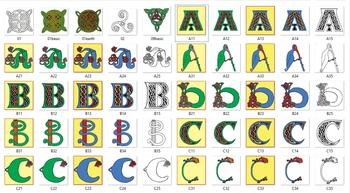 Free Celtic Symbols and Alphabet Letters samples