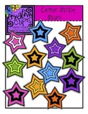 {Free} Center Stripe Stars {Creative Clips Digital Clipart}