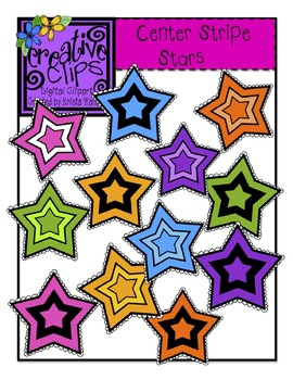 {Free} Center Stripe Stars {Creative Clips Digital Clipart}