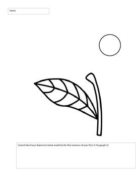 Free Central Idea and Sentence Structure Flower Activity