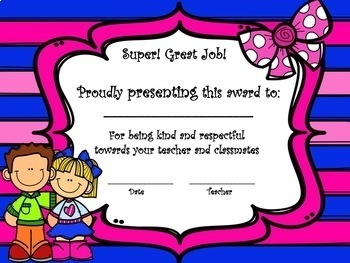 Free Certificate Awards - Elementary Students