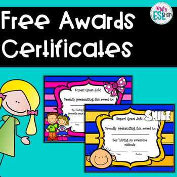 free certificate awards elementary students by mel s esl shop