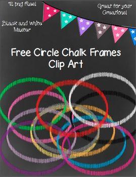 Free Circle Chalk Frames- 12 png images