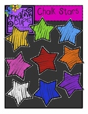 {Free} Chalk Rainbow Stars {Creative Clips Digital Clipart}