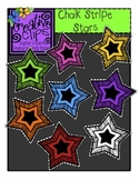{Free} Chalk Stripe Stars {Creative Clips Digital Clipart}