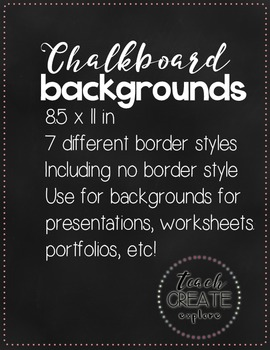 Free Chalkboard Backgrounds!