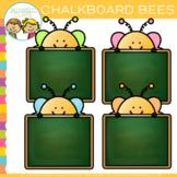 Free Chalkboard Bees Clip Art