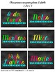 Free Chalkboard Brights Classroom Labels